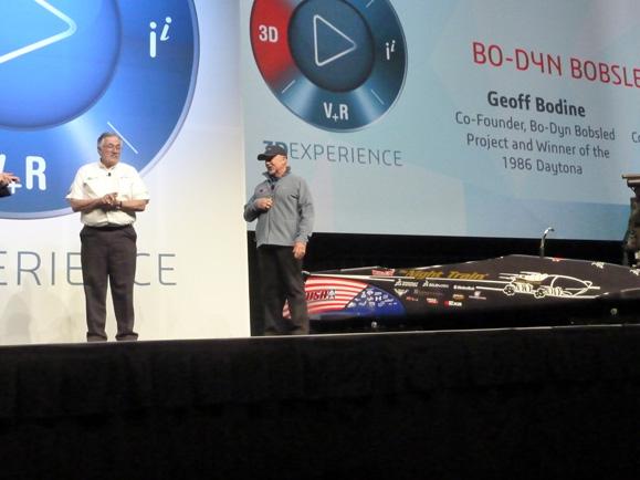 Bob Cuneo e Geoff Bodin, que estão por trás do projeto do bobsled Trem de Noite 2 dos atletas americanos