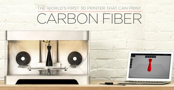 A impressora Mark One 3D utiliza o carbono para criar modelos em 3D e alternativas como a fibra de vidro