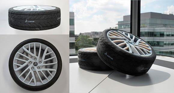 Vários materiais se uniram na impressora 3D se para produzir pneus  e outras peças realistas