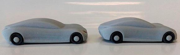 Estes modelos speedform despojados e frescos da Objet260 estão prontos para testes aerodinâmicos