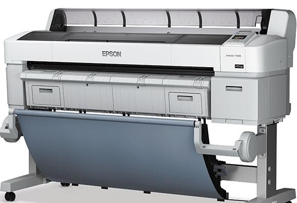 """Impressora SureColor T7070 oferecem cartuchos com  700 ml de tinta e imprime mídias nas dimensões  44"""""""