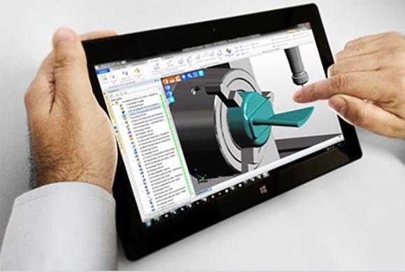 Edgecam permite usar tablet e smarthphones para  criar programas CNC