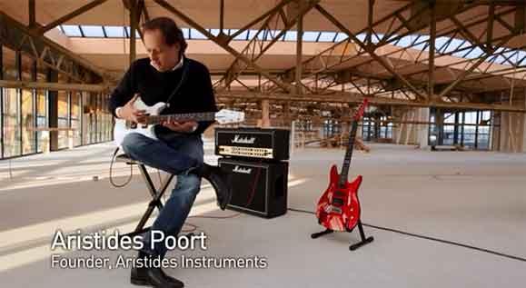 Conheça Aristides Poort, o inventor das guitarras Aristides  produzidas com material criado por ele