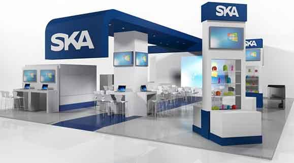 Estande da SKA leve soluções para design, impressão 3D e usinagem