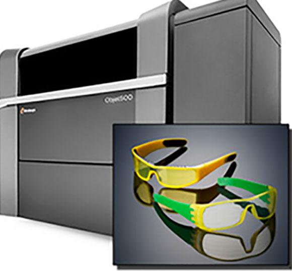 Objet500 Connex3 é capaz de imprimir modelos, moldes e peças com cores, durabilidade,