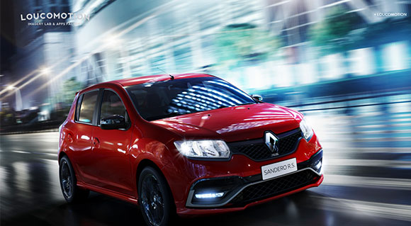 Imagens realistas de carro e ambiente criadas pela Loucomotion