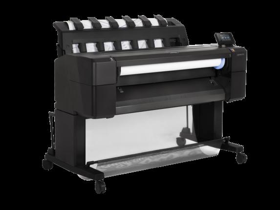 A impressora HP DesignJet T930, projetada para equipes de AEC de pequeno e médio porte