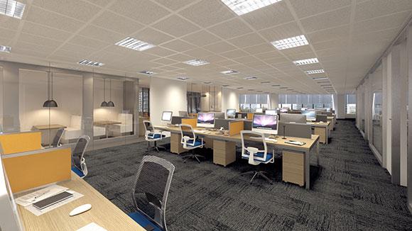 O novo escritório, localizado em uma das regiões comerciais mais nobres de São Paulo, possui 1.400 metros quadrados