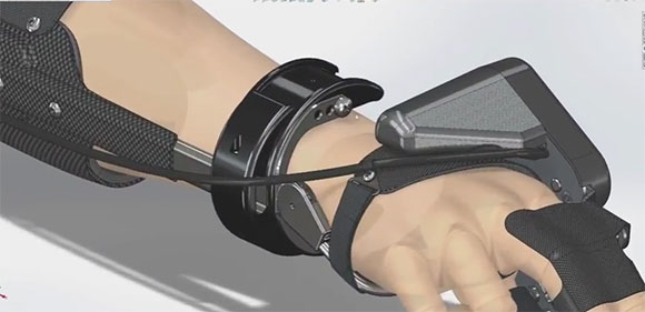 Órteses mioelétricas para membros superiores desenvolvida no excivamente no SolidWorks pela Myomo