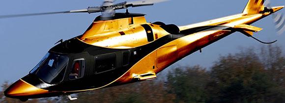 Helicóptero  customizado pelo ex-piloto de corridas Tarso Marques